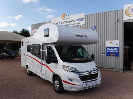 camping car en location SUNLIGHT CAPUCINE A72 modele 2019